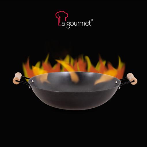 Chảo gang La gourmet 2 tay cầm